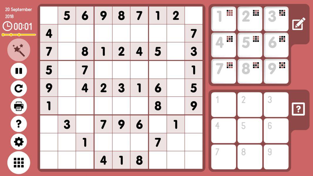 Level 2018-09-20. Online Sudoku
