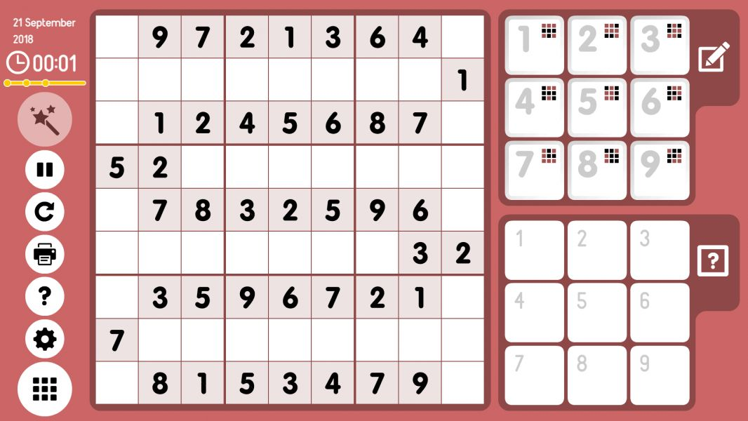 Level 2018-09-21. Online Sudoku