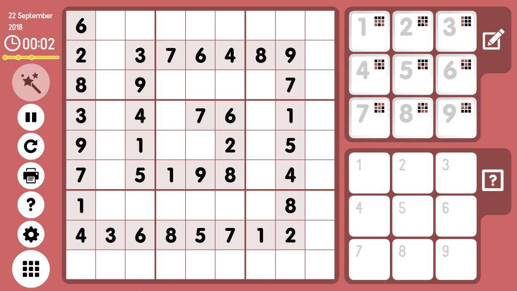 Level 2018-09-22. Online Sudoku