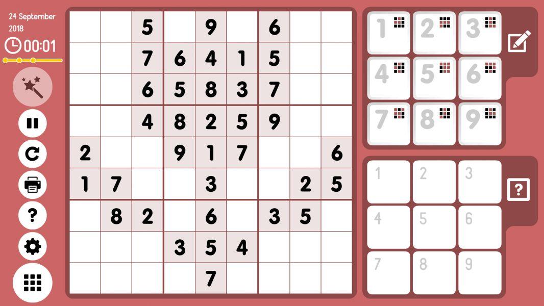 Level 2018-09-24. Online Sudoku