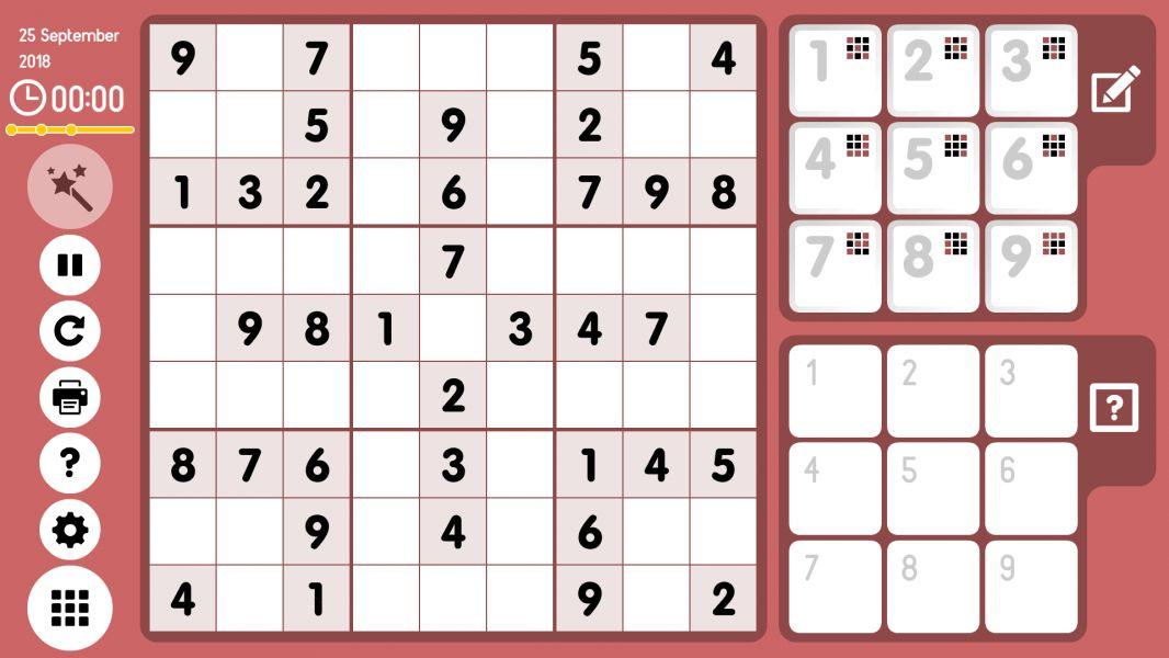 Level 2018-09-25. Online Sudoku