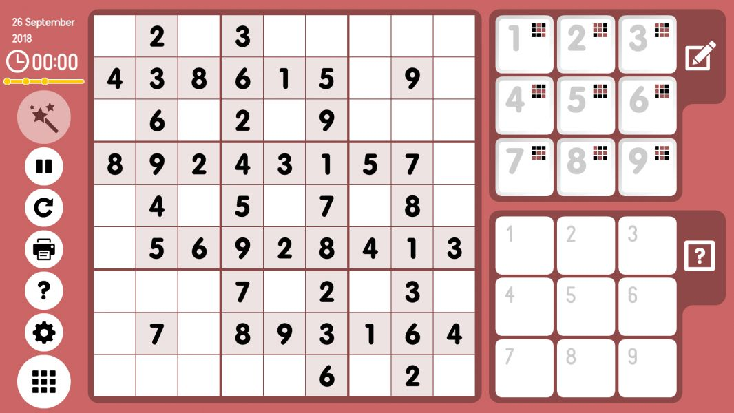 Level 2018-09-26. Online Sudoku