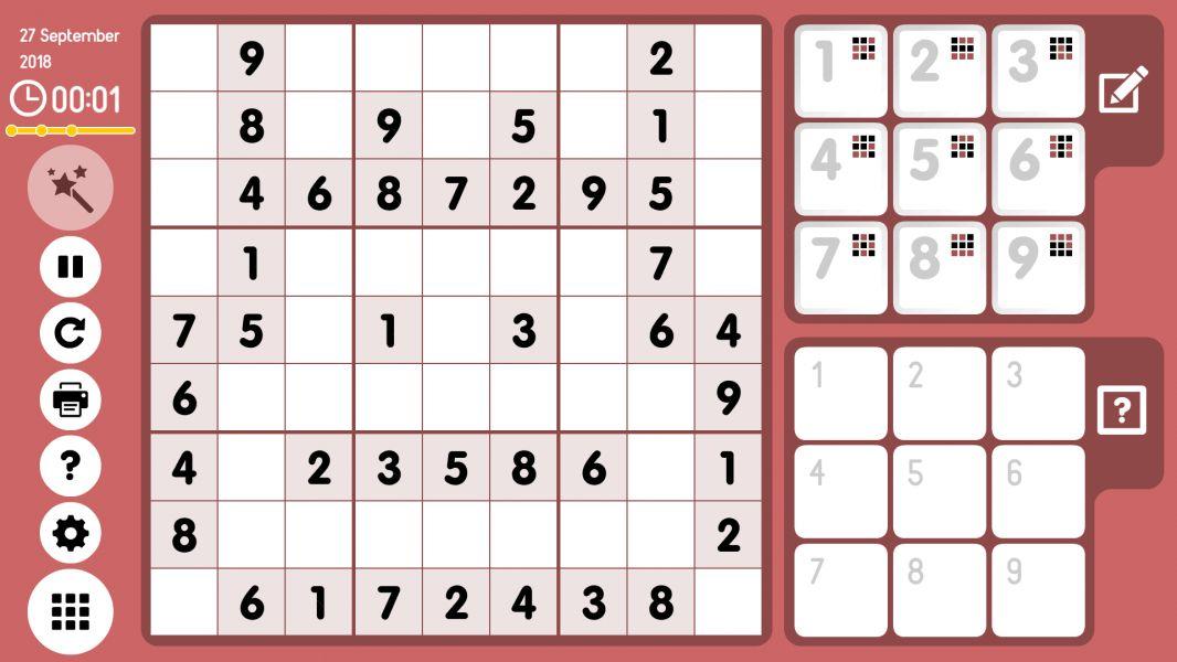 Level 2018-09-27. Online Sudoku