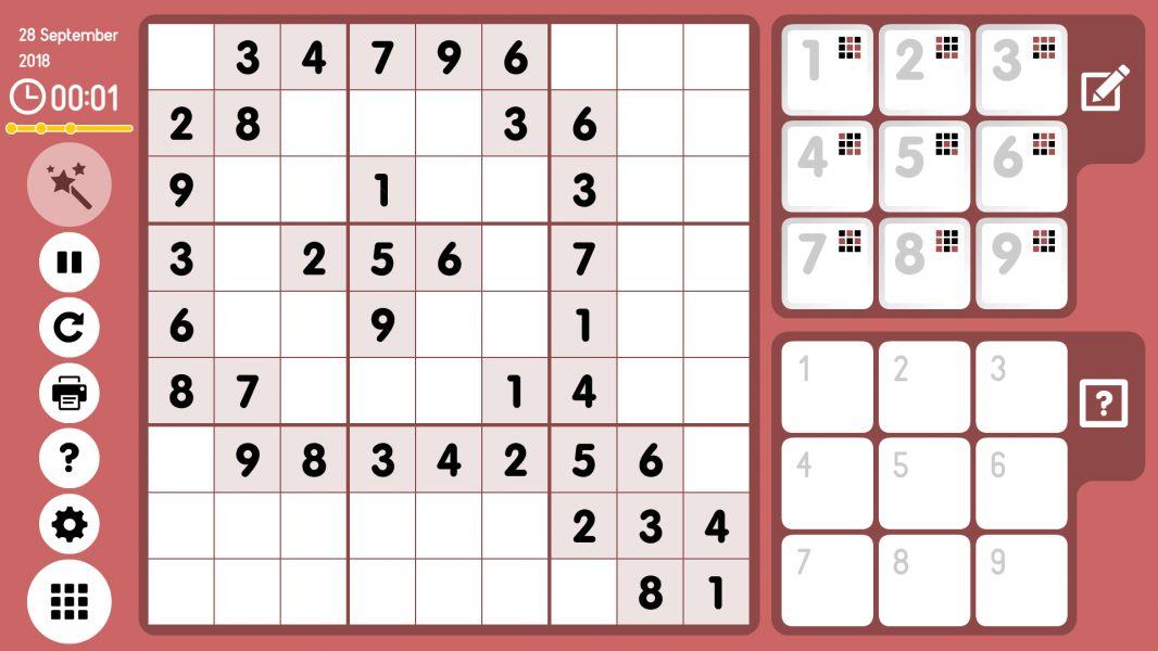 Level 2018-09-28. Online Sudoku