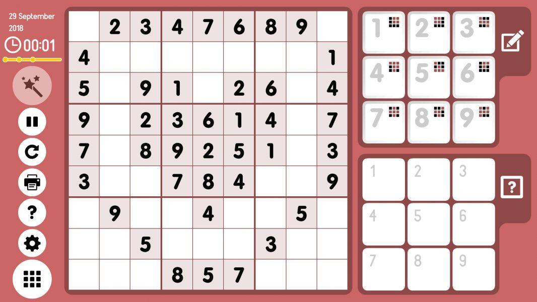 Level 2018-09-29. Online Sudoku