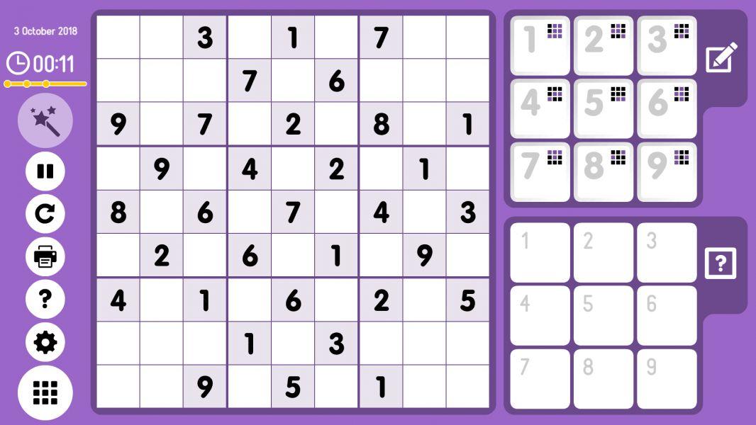 Level 2018-10-03. Online Sudoku