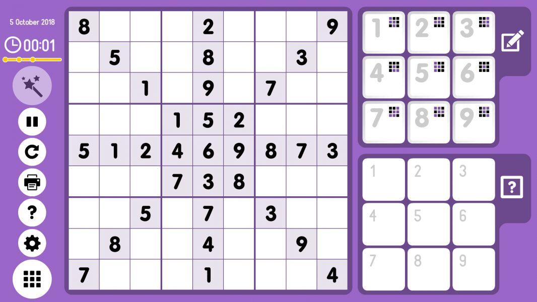 Level 2018-10-05. Online Sudoku