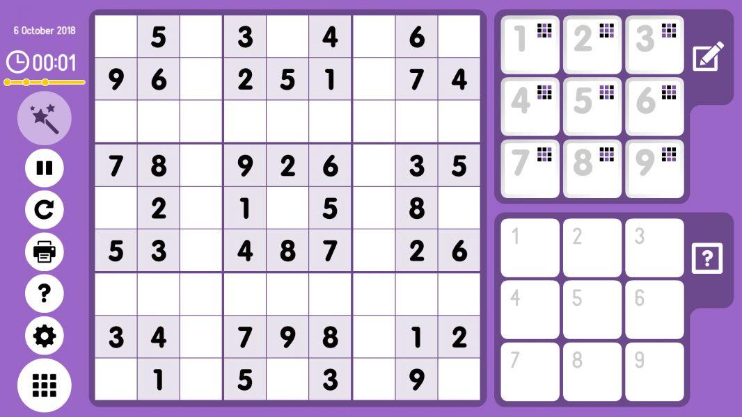 Level 2018-10-06. Online Sudoku