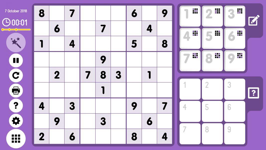 Level 2018-10-07. Online Sudoku