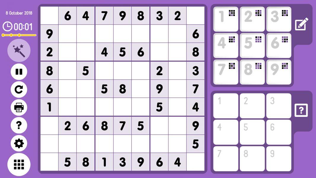 Level 2018-10-08. Online Sudoku