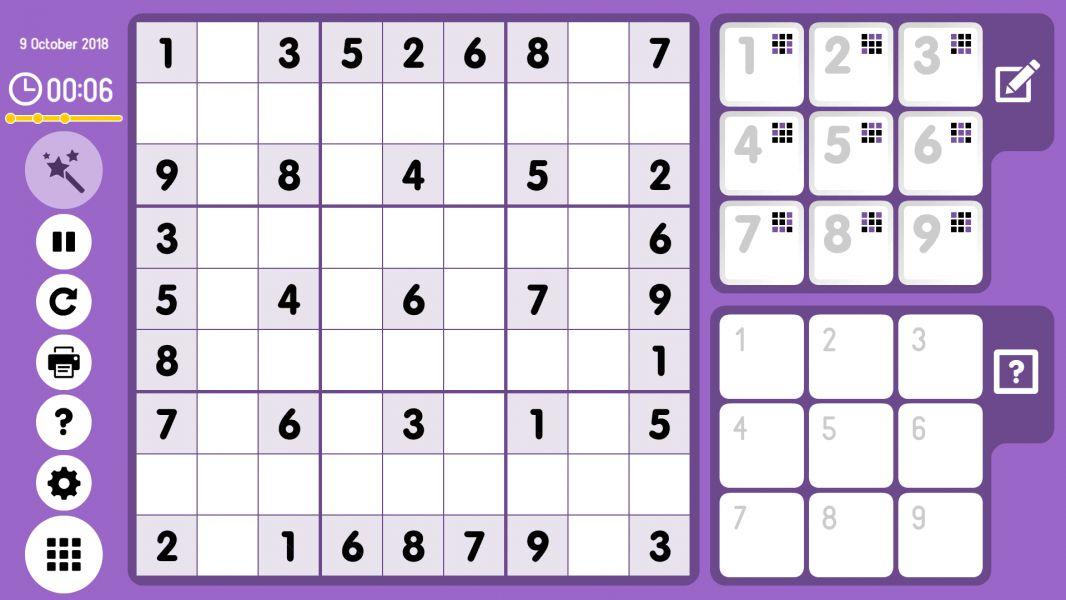 Level 2018-10-09. Online Sudoku
