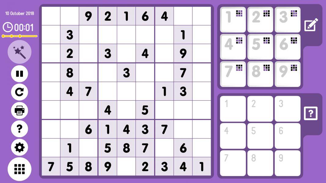 Level 2018-10-10. Online Sudoku