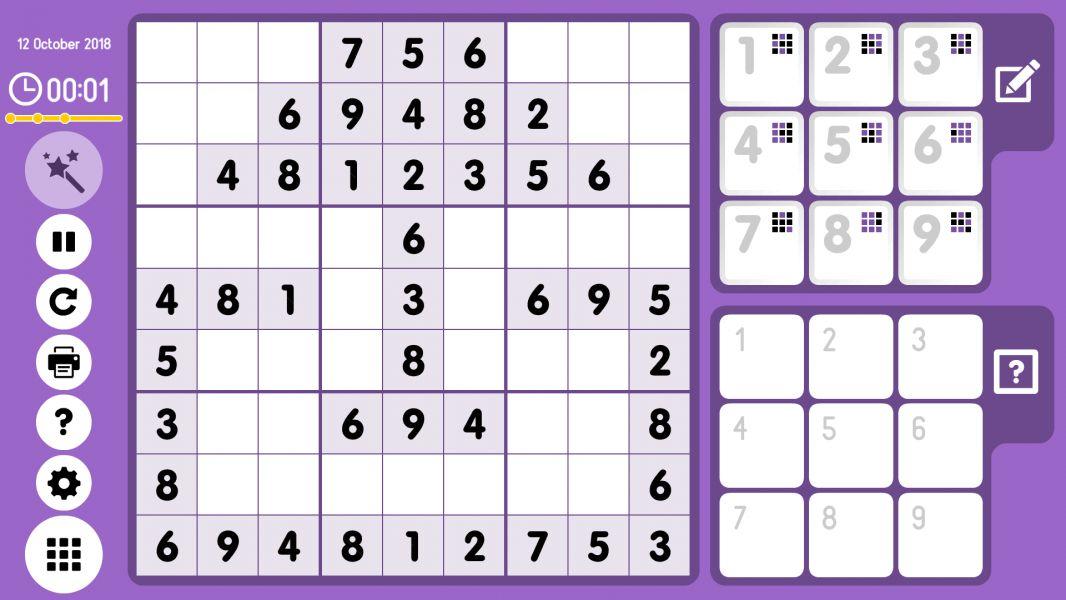 Level 2018-10-12. Online Sudoku