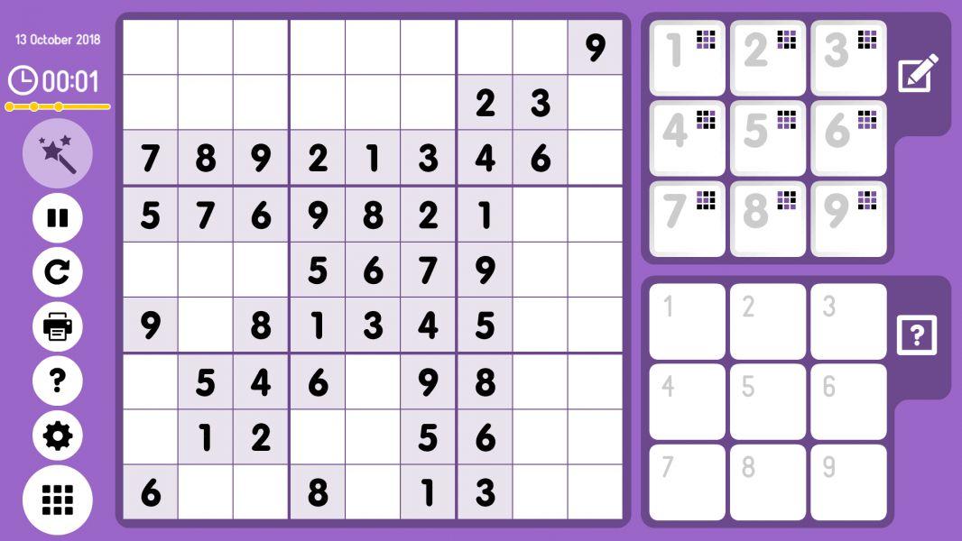 Level 2018-10-13. Online Sudoku
