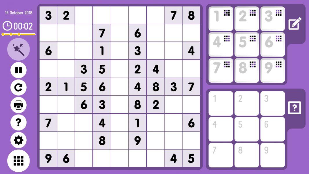 Level 2018-10-14. Online Sudoku