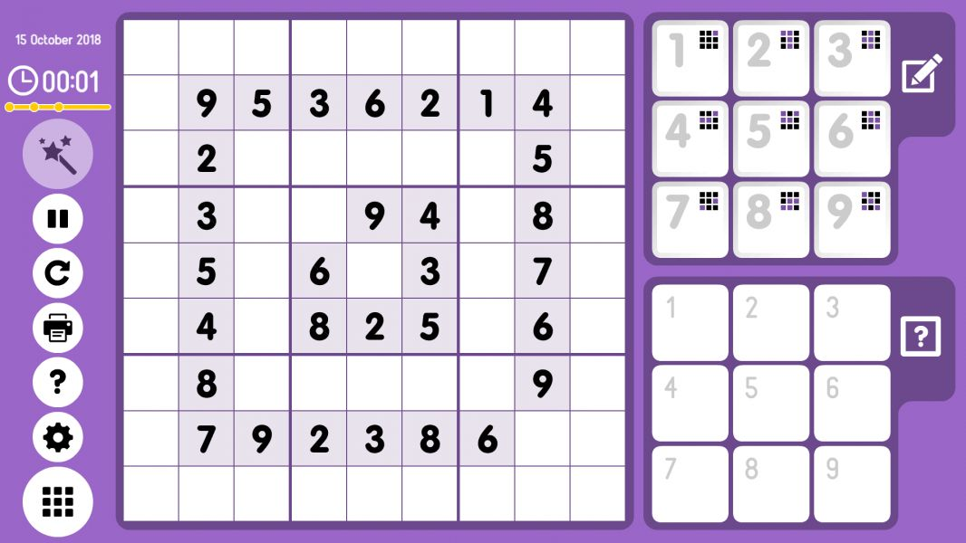 Level 2018-10-15. Online Sudoku