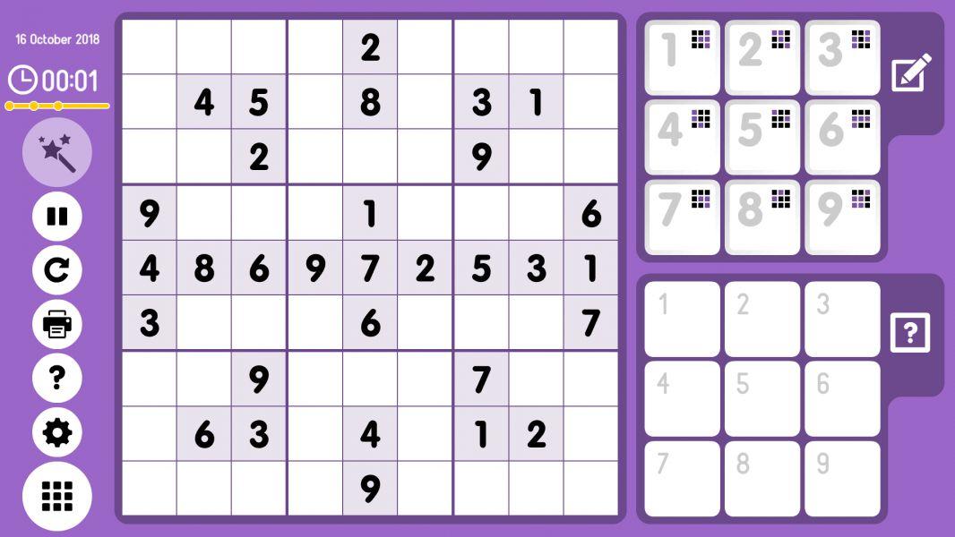 Level 2018-10-16. Online Sudoku