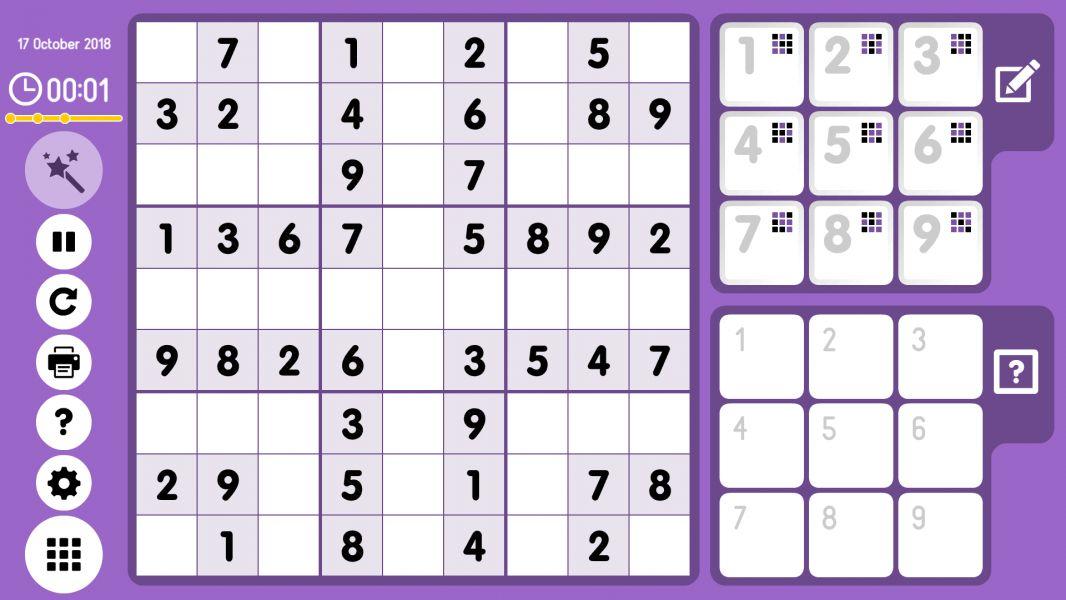 Level 2018-10-17. Online Sudoku