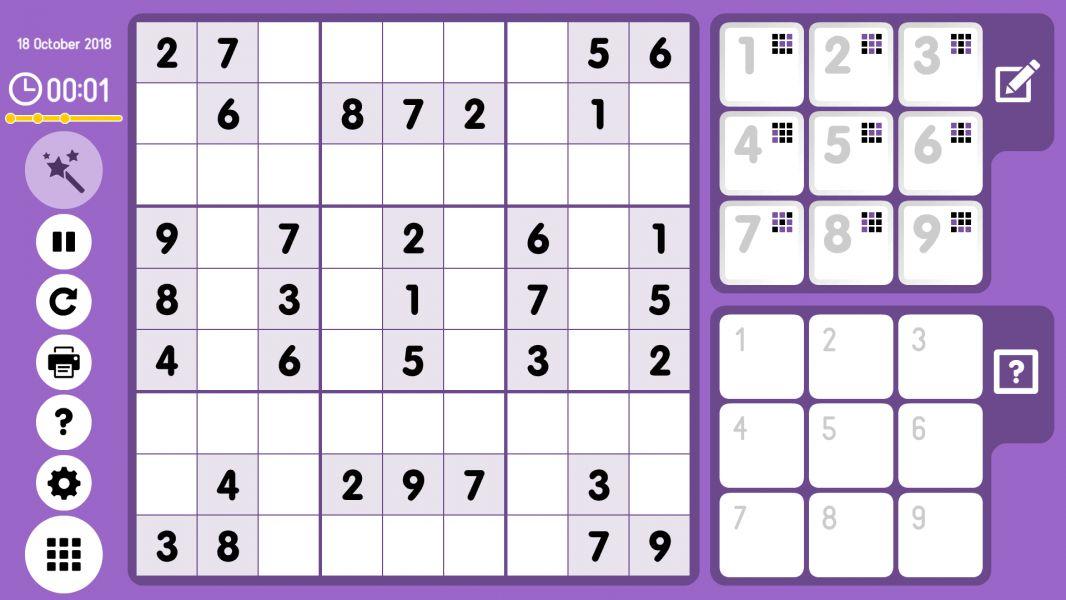 Level 2018-10-18. Online Sudoku
