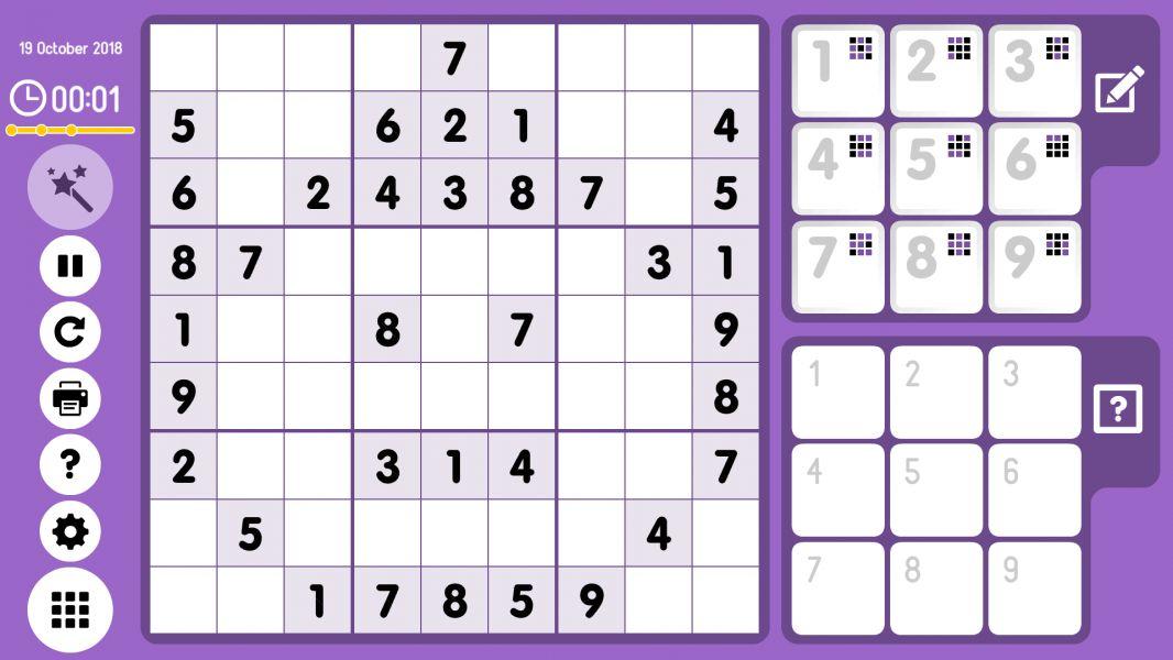 Level 2018-10-19. Online Sudoku