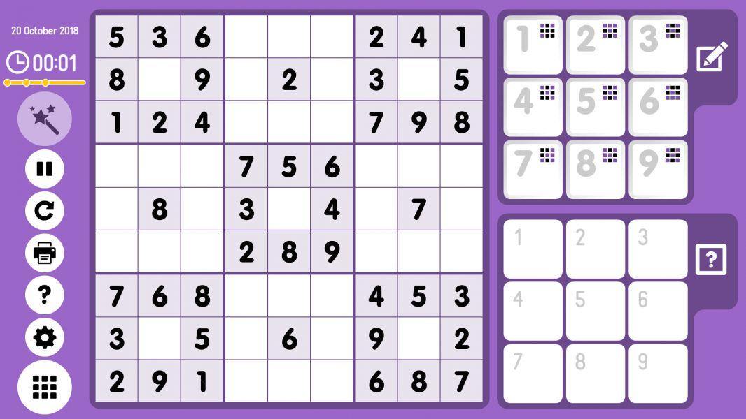 Level 2018-10-20. Online Sudoku