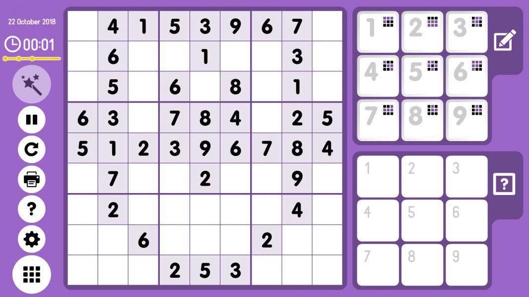 Level 2018-10-22. Online Sudoku