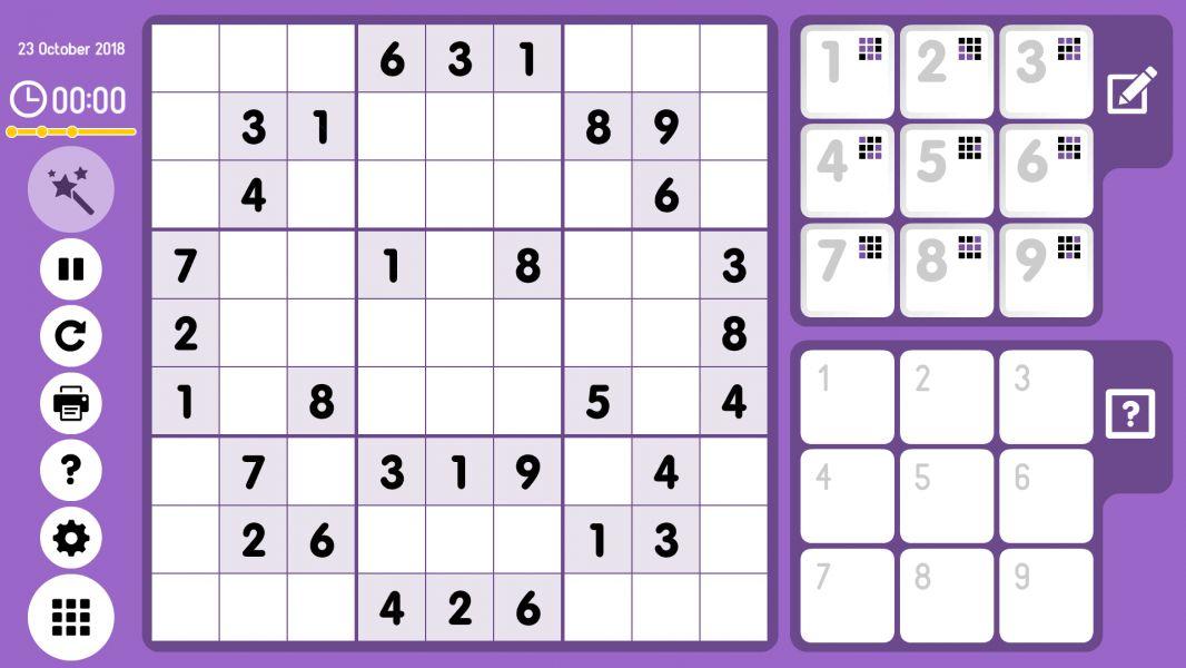 Level 2018-10-23. Online Sudoku