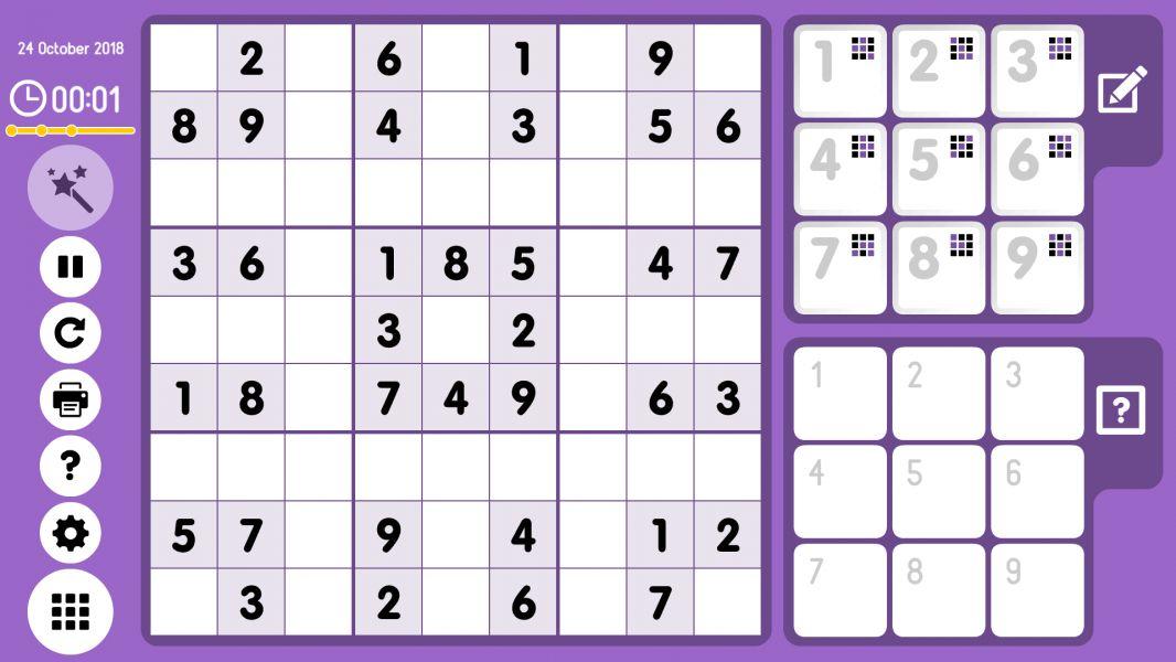 Level 2018-10-24. Online Sudoku