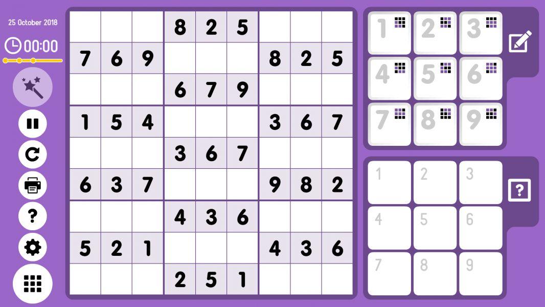 Level 2018-10-25. Online Sudoku