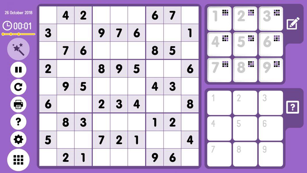 Level 2018-10-26. Online Sudoku