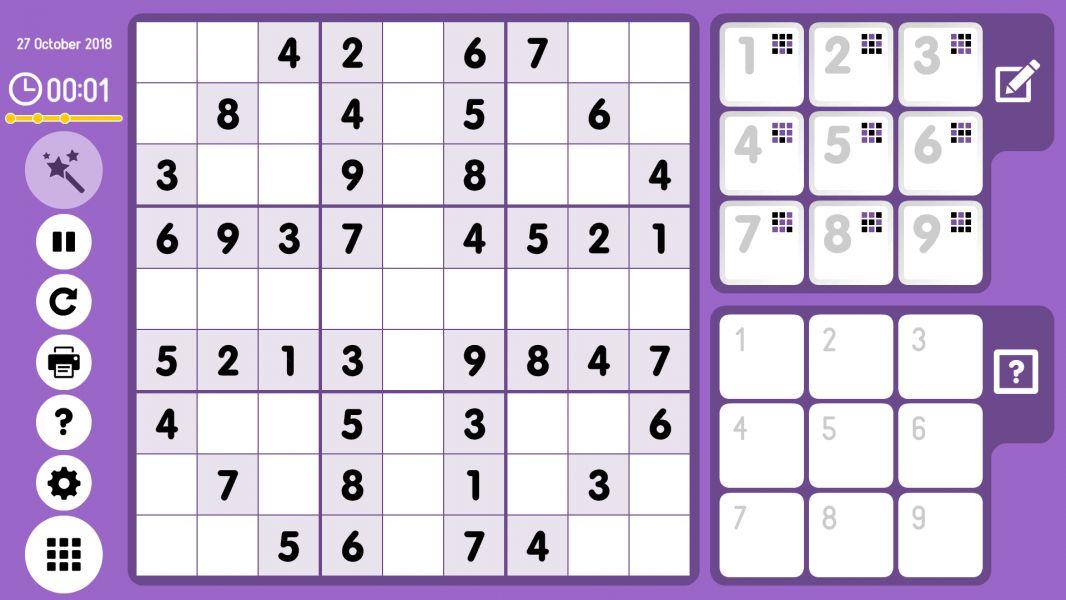 Level 2018-10-27. Online Sudoku