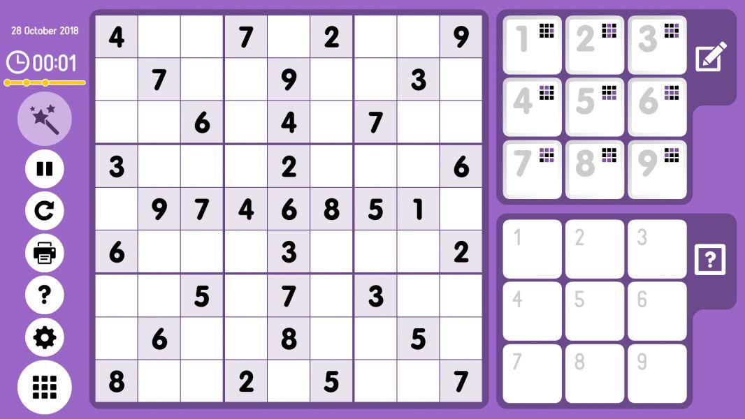 Level 2018-10-28. Online Sudoku