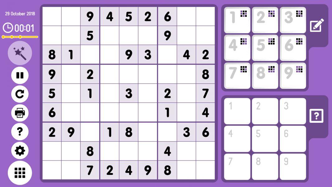 Level 2018-10-29. Online Sudoku