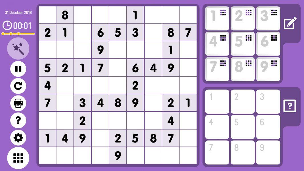 Level 2018-10-31. Online Sudoku