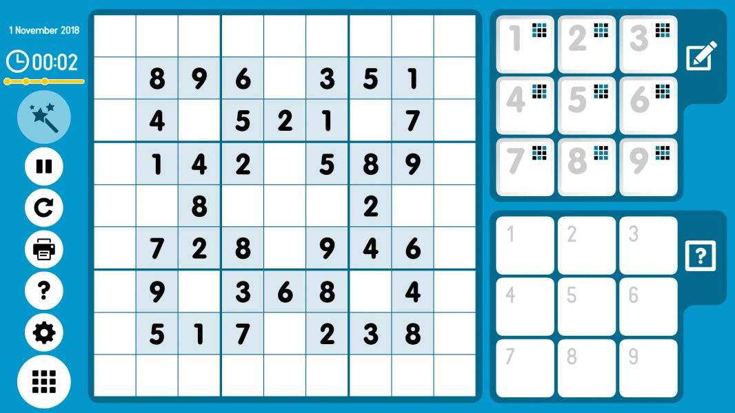 Level 2018-11-01. Online Sudoku