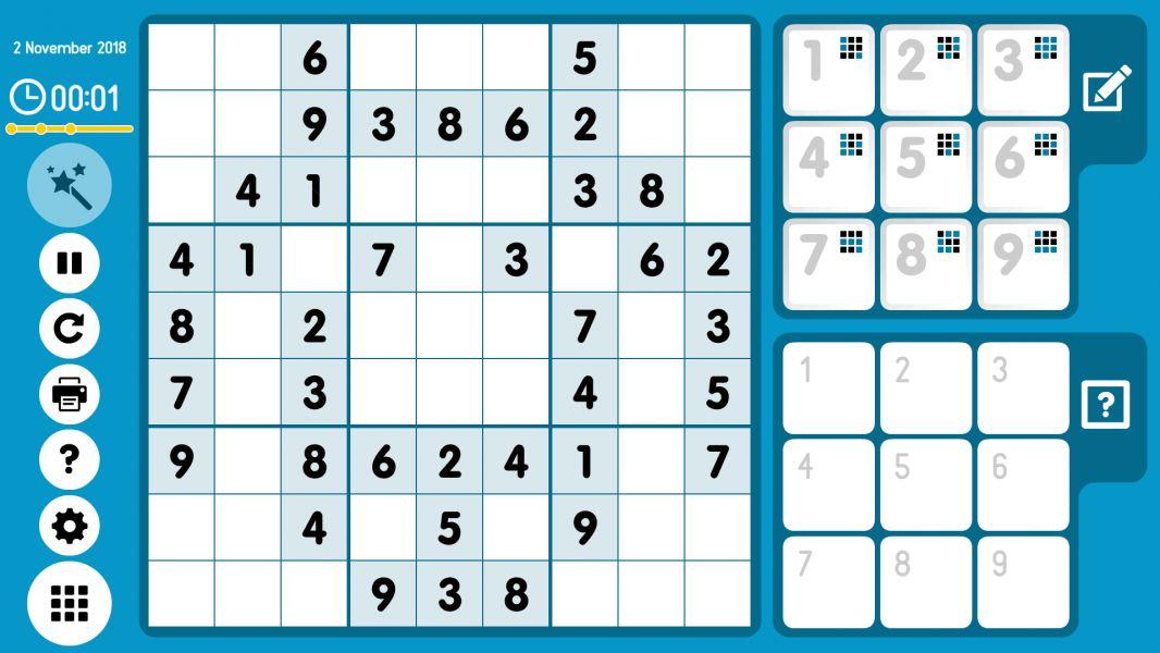 Level 2018-11-02. Online Sudoku