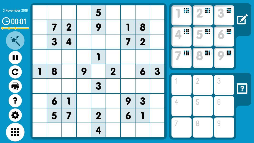 Level 2018-11-03. Online Sudoku