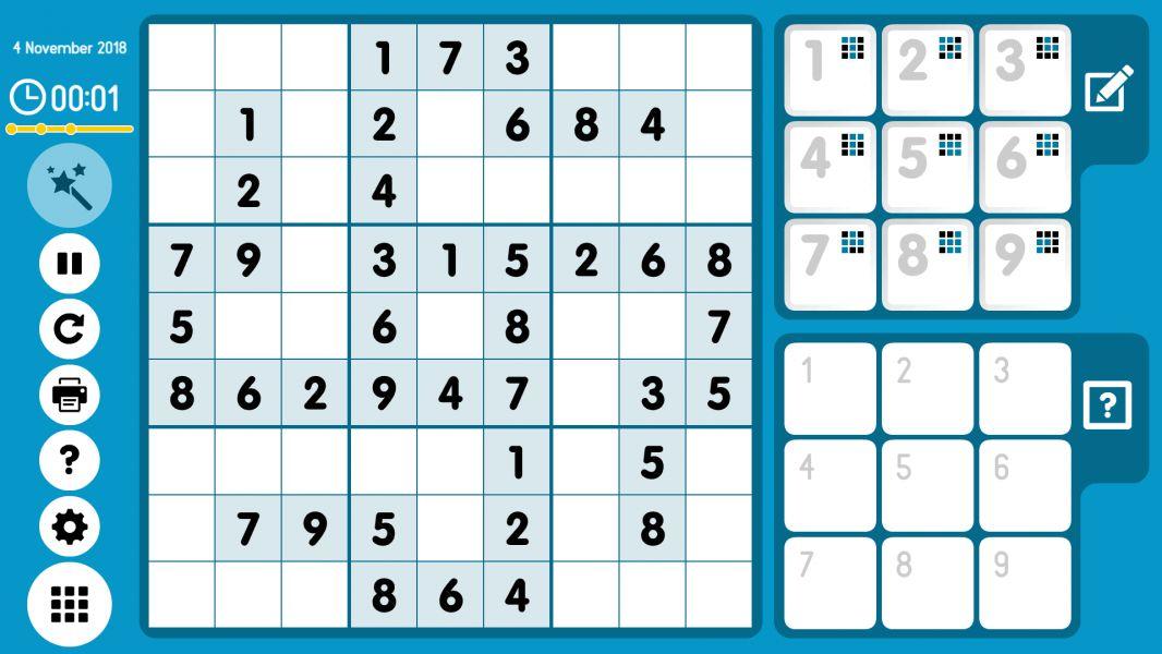 Level 2018-11-04. Online Sudoku