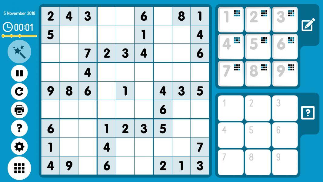 Level 2018-11-05. Online Sudoku