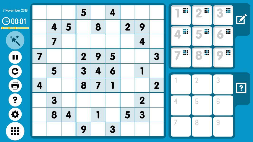 Level 2018-11-07. Online Sudoku