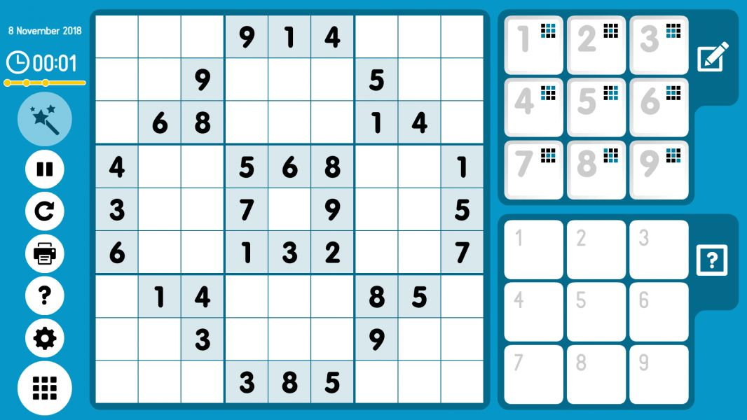 Level 2018-11-08. Online Sudoku