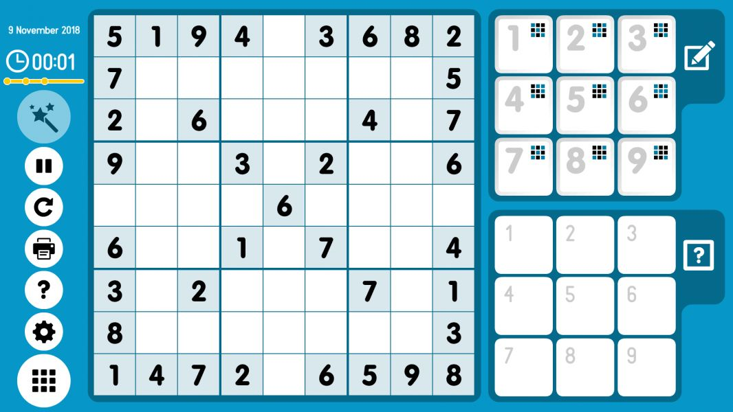 Level 2018-11-09. Online Sudoku