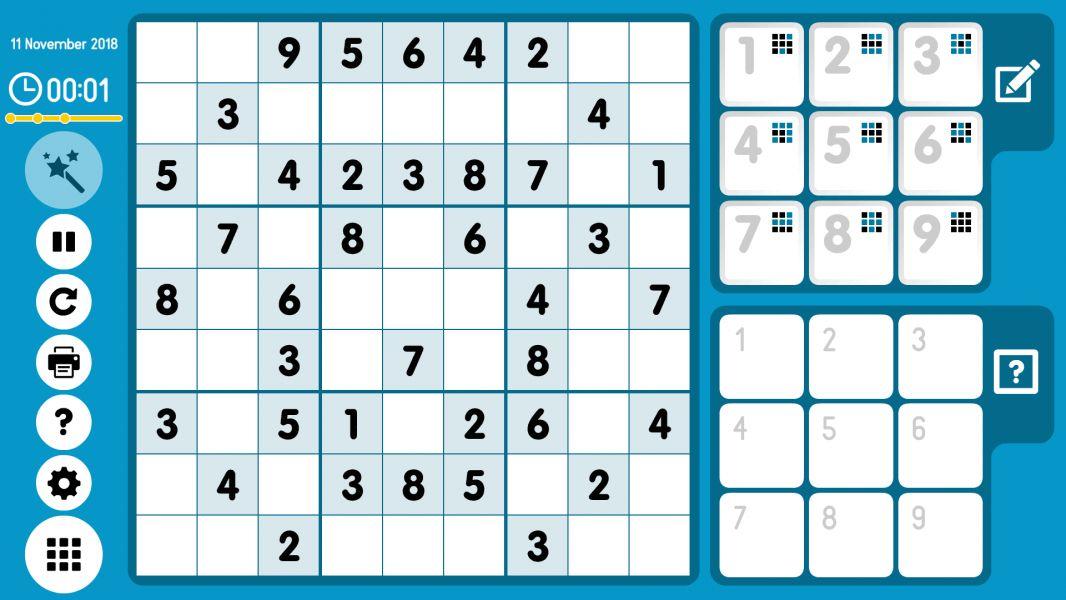 Level 2018-11-11. Online Sudoku