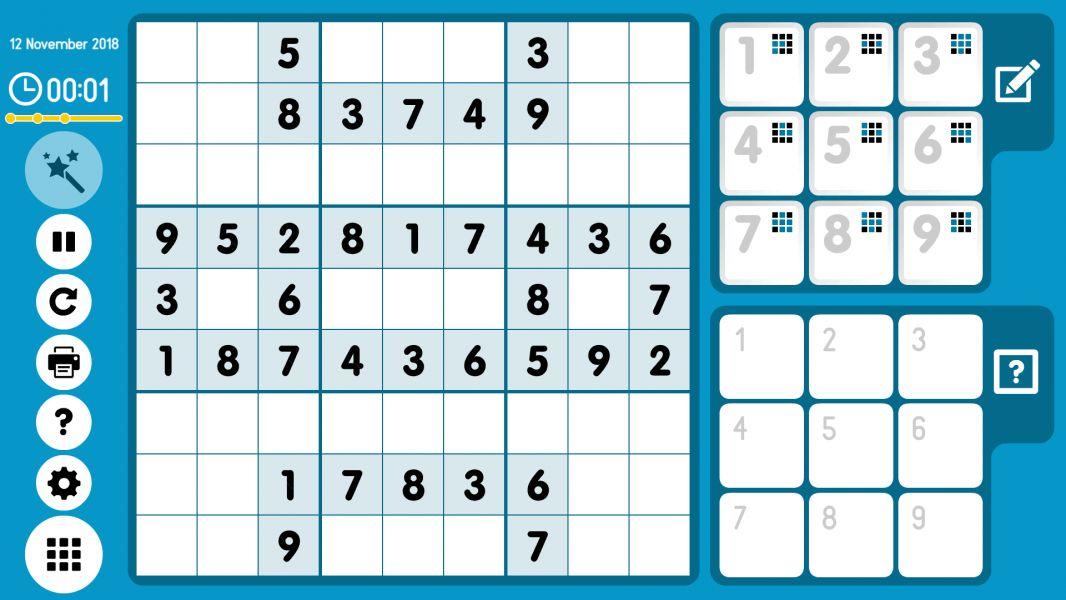 Level 2018-11-12. Online Sudoku