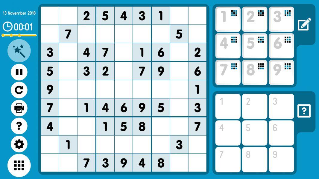 Level 2018-11-13. Online Sudoku