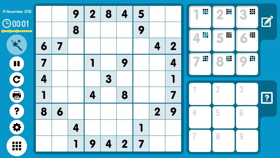 Level 2018-11-14. Online Sudoku