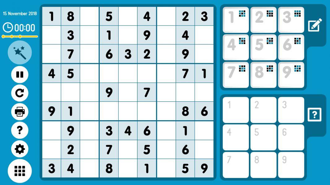 Level 2018-11-15. Online Sudoku