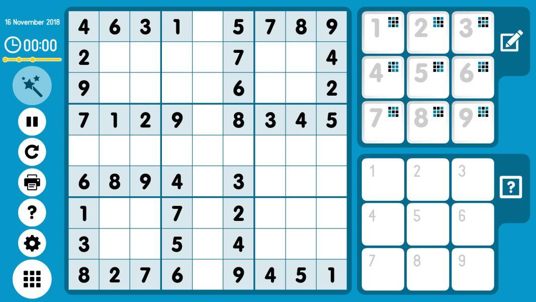 Level 2018-11-16. Online Sudoku
