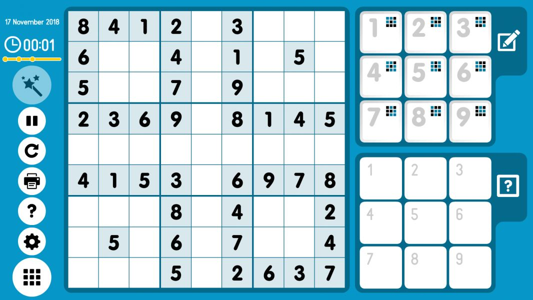 Level 2018-11-17. Online Sudoku