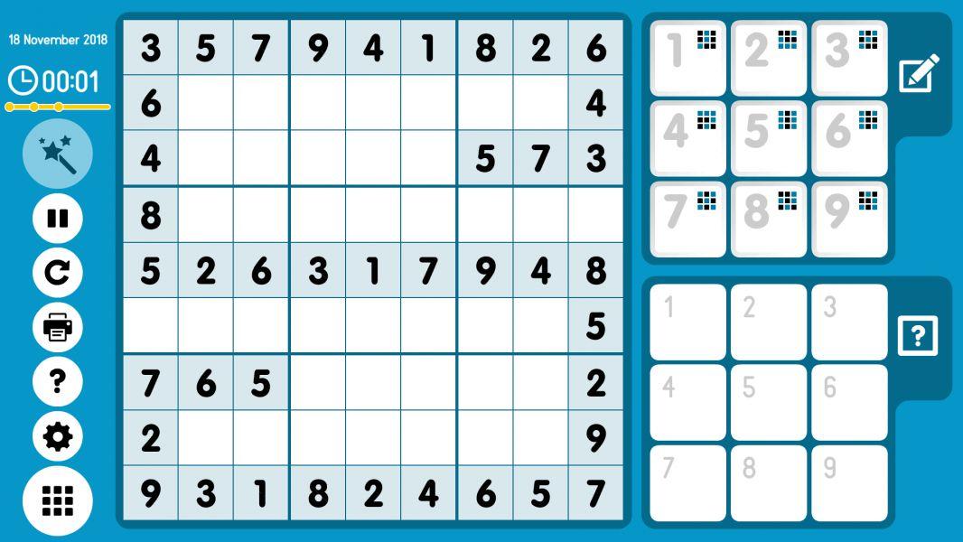 Level 2018-11-18. Online Sudoku